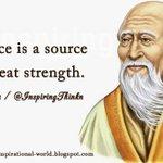 RT @InspiringThinkn   Silence is a source of great strength. Lao Tzu http://t.co/MywGJ9ZjQP @10MillionMiler @DavidKWilliams