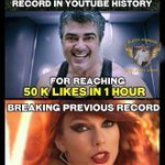 #VedalamTeaserBlast s Likes in one hour on @YouTube beats American Singer @taylorswift13 s Likes record.. http://t.co/0YX4dF82Zk