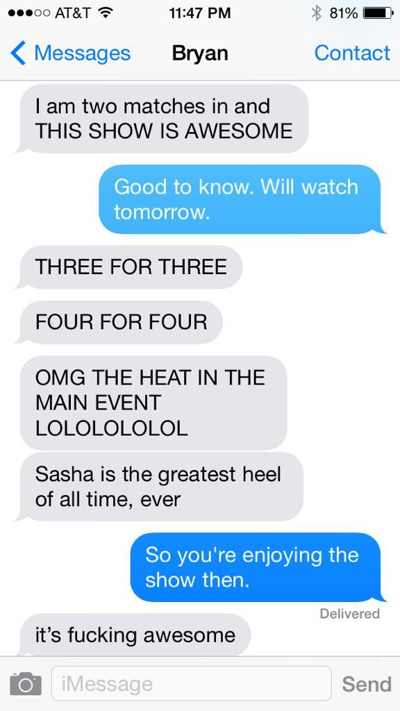 So, @bryanalvarez seems to be enjoying #NXTTakeOver. http://t.co/GOscmAj7i5