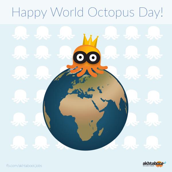 Happy World Octopus Day! #OctopusDay #Akhtaboot #WorldOctopusDay #Octopus #HappyOctopusDay http://t.co/ZN3wVWMYhd