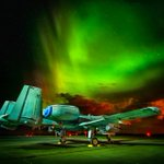 Yesterday night at Ämari AFB. Photo by @GenVagula #auroraborealis #AirForce #A-10WartHog #AtlanticResolve http://t.co/3VAVE8FM1B