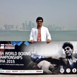 Here in Doha for the Boxing World Championship and for Olympic Qualifiers. http://t.co/4xW4MDCdmq