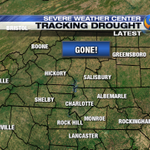 Just got the update on the Drought Monitor, it is gone across the Carolinas due to rainfall from this past week! http://t.co/NLZ0KS7GYD