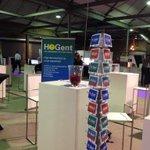 De #hogent is klaar voor de #innovatiebeurs! Laat die KMOs maar komen :) @Innovatiecentra http://t.co/kA78vGHLoT