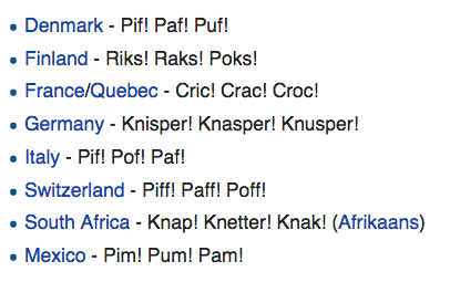 Favourite thing today: International names for Snap, Crackle and Pop. http://t.co/zDSj0In0Wa