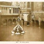 Bath Corporation advert - Kings Spring @ @RomanBathsBath before floor level lowered & centrepiece removed. http://t.co/U8tVO3sYmp