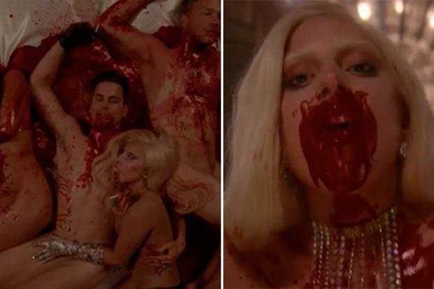 Literally Torture Porn Lady Gaga Writhes In Blood Soaked Orgy For Ahshotel Debut