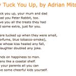 They tuck you up, your mum and dad Larkin gets a brilliant makeover from Adrian Mitchell #NationalPoetryDay http://t.co/FDYhRajMOE