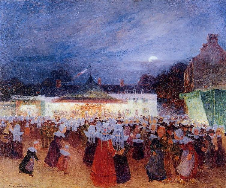 フェルディナン・ドゥ・ピゴドー『夜のカーニヴァル』1895年頃