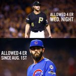 Crazy Stat of Day: Gerrit Cole allowed 4 ER in last nights game.  Jake Arrieta has allowed 4 ER since August 1st. http://t.co/0AJJubc5NS