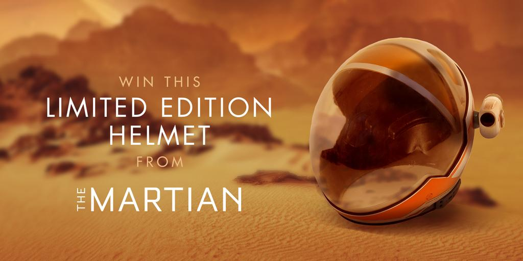 Retweet to win a limited edition replica of the helmet worn by Matt Damon in #TheMartian http://t.co/kRPKQ3X2S2