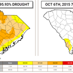 South Carolina went from 96% #drought to just 7% in 2 weeks. #scwx http://t.co/t0kRCDNogD