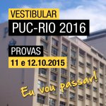 Nos próximos dias 11 e 12 de outubro têm prova da PUC-Rio. Descanse bastante, fique tranquilo e faça uma boa prova! http://t.co/2S8ARwZaDU