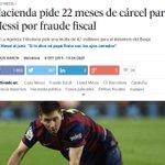 Los que opinan que entre Crisitano y Messi hay mucha diferencia tienen toda la razón. Para Cristiano no piden cárcel http://t.co/9jE8Iw4xmr