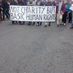 Über 300 bei #refugee-demo in #leipzig. No charity but basic human rights http://t.co/QfqW7Ju0rO