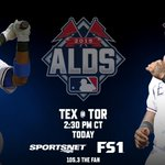 The Rangers take on the Blue Jays in Game 1 of the ALDS today at 2:30 PM CT. #NeverEverQuit http://t.co/j6yMbBHv8R
