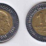 ¡¡Ojito!! Estos son 10 Pesos Uruguayos Se parecen a las de 2 € pero realmente valen 0,3 € Que no te la cuelen http://t.co/tmDatfDlsn