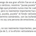 Así habla un hincha del Real Oviedo de la afición del Real Valladolid. Sin palabras. http://t.co/UAmoyMbLvT