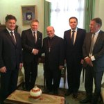 Accompanying PM Fico w/@KazimirPeter on official visit to #Cuba,started our program meeting Cardinal Jaime Ortega http://t.co/MMgC29y4LA
