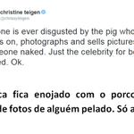 Justin favoritou um tweet da modelo Chrissy Teigen sobre suas fotos nu. #EMABiggestFansJustinBieber http://t.co/YUfLDGhtnf