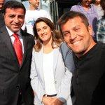 Selahattin Demirtaş ve eşi Başak Demirtaş bugün Hürriyetteydi. http://t.co/5wRvZS1yg9