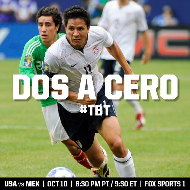 We are all part of the USA-Mexico rivalry. Time to write a new chapter. United we stand. #TBT #OneNationOneTeam #USA http://t.co/lHR1WlxWuI