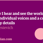 Everything you need to know about Svetlana Alexievich, winner of the Nobel in literature http://t.co/jtMxW8f1p0 http://t.co/I46yx3s1Sf