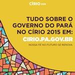 #Círio2015 Acompanhe todas as ações especiais do Governo do Pará para o Círio de Nazaré: http://t.co/KAho4LPjZK http://t.co/L267XKcrqE