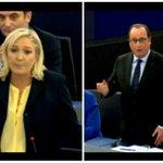 Video: violente passe d'armes entre Le Pen et Hollande au Parlement européen http://t.co/g20ZX2Fn1o http://t.co/twXHs4UGTR