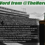 RT @HerdTickets: A word from your @TheHerdAD! #BeHerd http://t.co/rtBJgL1AmE