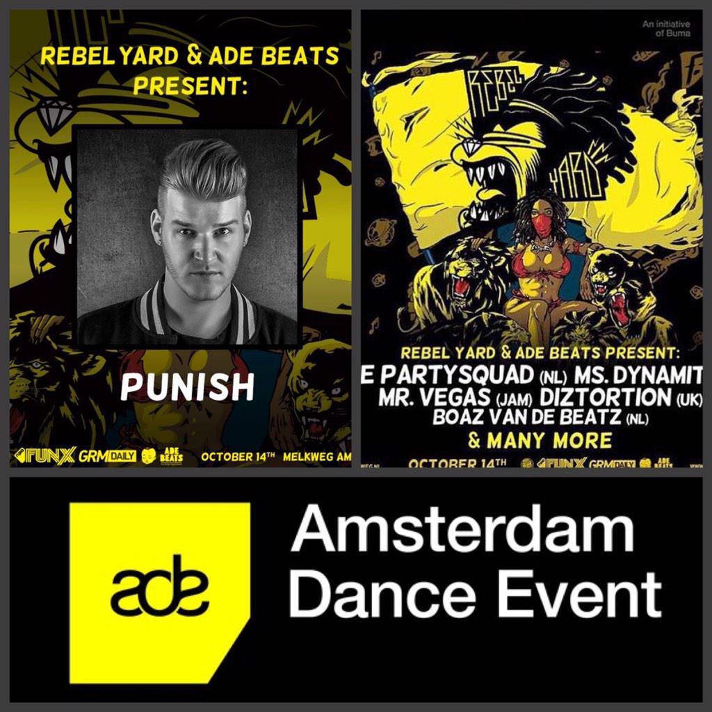 WIN 2 KAARTEN! Retweet dit en maak kans op 2 kaarten voor @RebelYardMusic en Ade Beats avond! Success! #ADE15 http://t.co/umTRD1RsR9