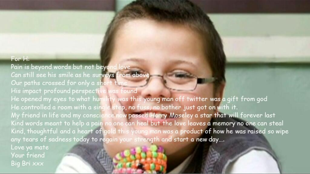 Remembering a little man today who put my life into perspective @harry_moseley  #HHHO http://t.co/JH8DmSubhT