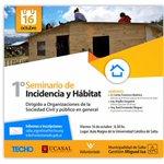 Junto a @TECHOarg realizaremos el Primer Seminario de Incidencia y Hábitat de #Salta http://t.co/UY2VWDxAvI http://t.co/MYGnH9rA6l