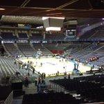 La tensa espera. 2 horas para el partidazo. El Palacio está listo. #NBAMadrid http://t.co/PxS44osJue