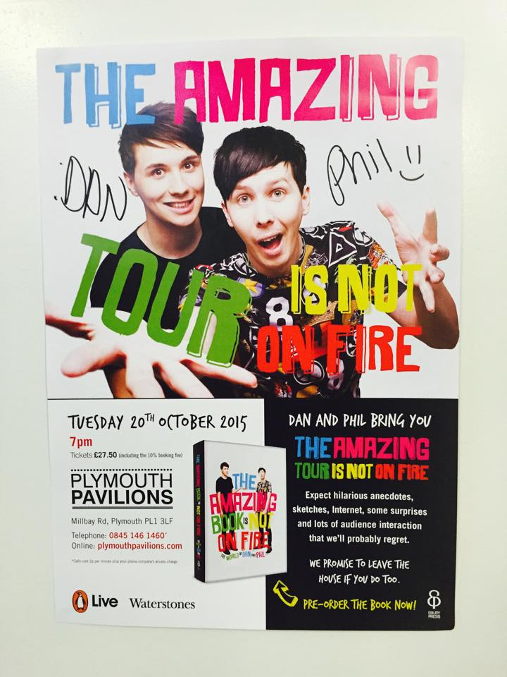OMG @danisnotonfire & @AmazingPhil left us some signed #TATINOF posters from #Plymouth #IRL! RT to WIN! Ts&Cs on web https://t.co/DdzeLBPiSk