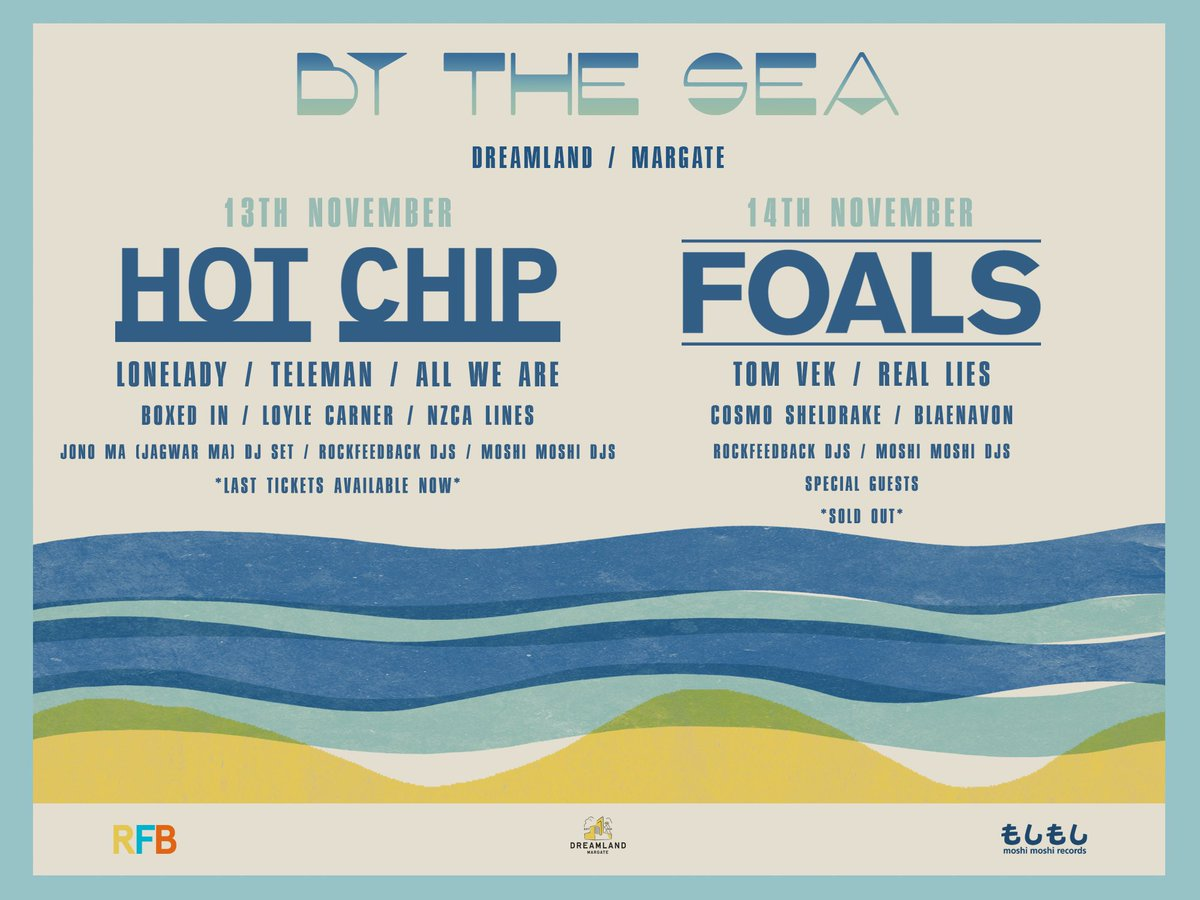 Excited to announce full line ups for our By The Sea events at Dreamland Margate next month https://t.co/kf01Wu2DVF https://t.co/bHv525faXD