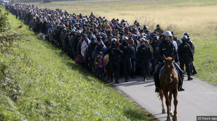 This is Europe, 2015…and these are mostly refugees fleeing war https://t.co/xB4WNXMA3o