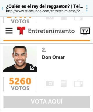 @Telemundo #TodosSomosOmar Mi Voto Es Para #ELRey @DONOMAR