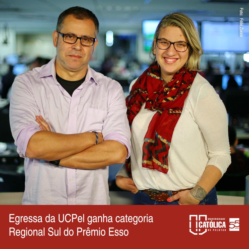 Egressa da UCPel ganha categoria Regional Sul do Prêmio Esso https://t.co/ITBrUpSq3V https://t.co/NaoK7A1Gnk