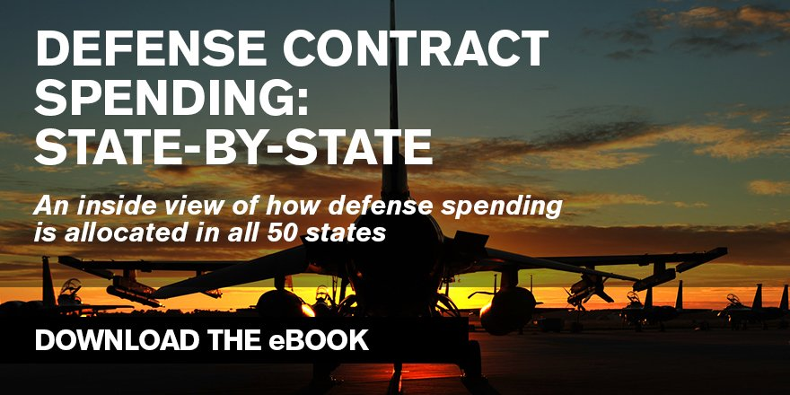 Get an insider's view of how defense spending is allocated in all 50 states. Download now: https://t.co/WSCdrqLJ7A https://t.co/MPcG67J6Bo