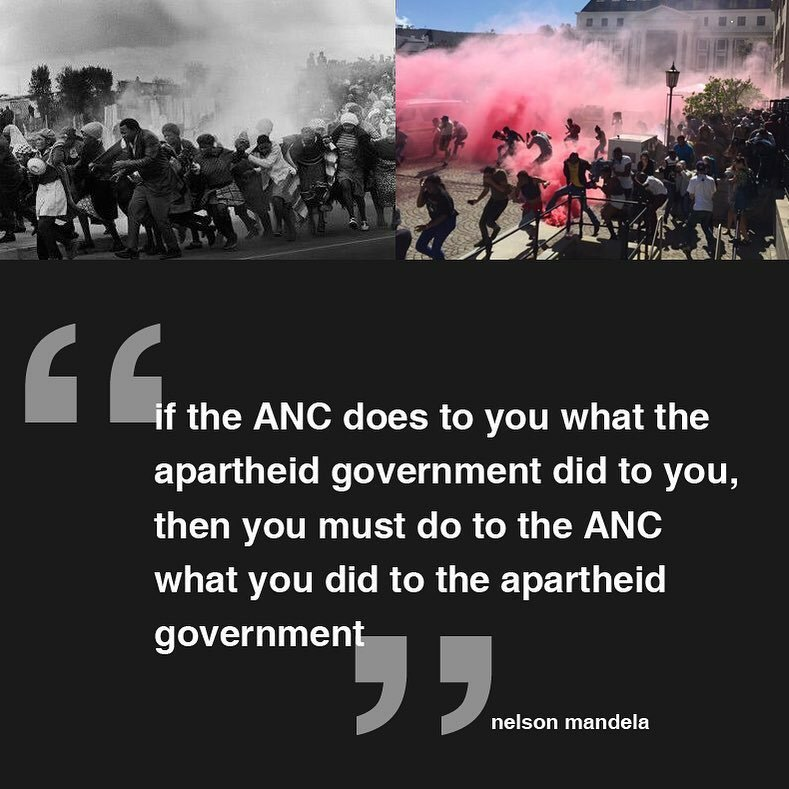 Quote of the day by the late, great @NelsonMandela. Say no more, the legend has spoken! #FeesMustFall #ANCMustFall https://t.co/XyuhCojW5l