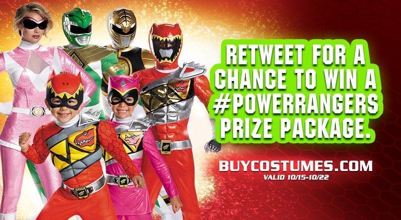 Calling all #PowerRangers fans: RT this for a chance to win a fun prize pack https://t.co/R1dQDjOI2D U.S. fans only. https://t.co/h20jxGGVKq