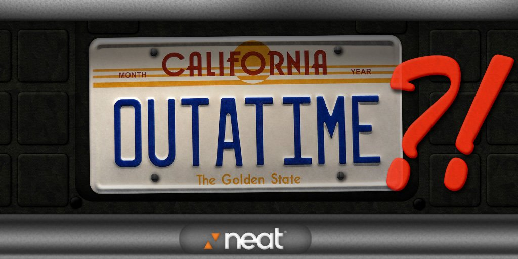 Happy #BackToTheFuture Day! Neat makes it easy to save time & manage your documents. (No flux capacitator required.) https://t.co/NHsUkPvzJT