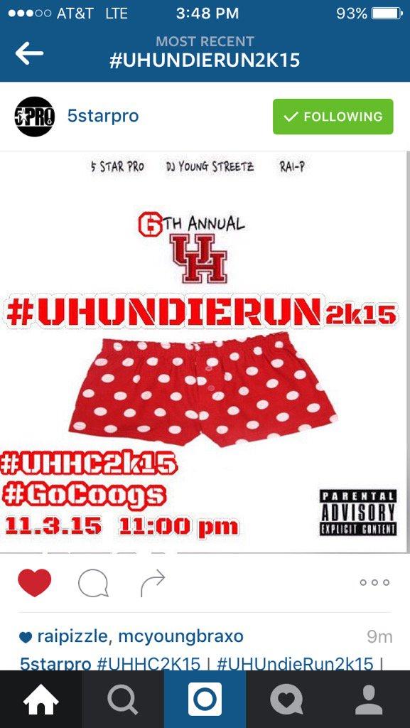 6th Annual #UHUndieRun2k15