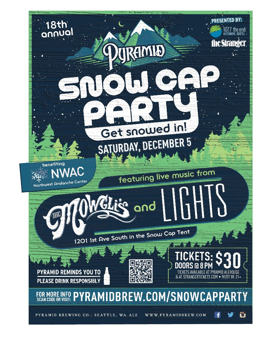 Get your tickets to this year's Snow Cap Party, 12/5, featuring @Themowglis and @lights! https://t.co/NXE1xO2QIc https://t.co/aO9bxGBjdy