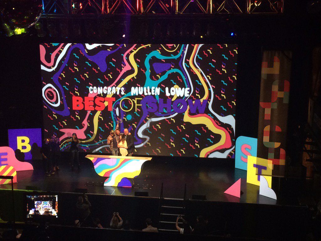 "Huge congratulations to @MullenLoweUS the #Hatch55 best of show winner @JetBlue ""Fly It Forward"" https://t.co/UTnO3qCR8N"
