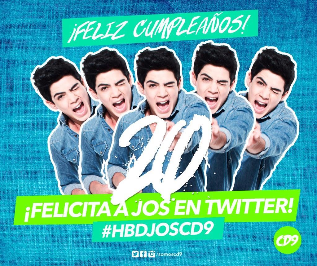 #Coders ¡Vamos a desearle un Feliz Cumpleaños a @JosDice de @somosCD9! ❤ #HBDJosCD9 https://t.co/hNKyRTuDb9