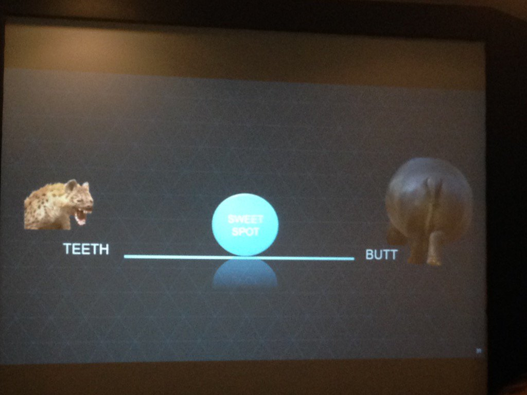 Interesting perspective from Starwood - teeth to butt ratio #cinoeu https://t.co/ziwIq4Xskf