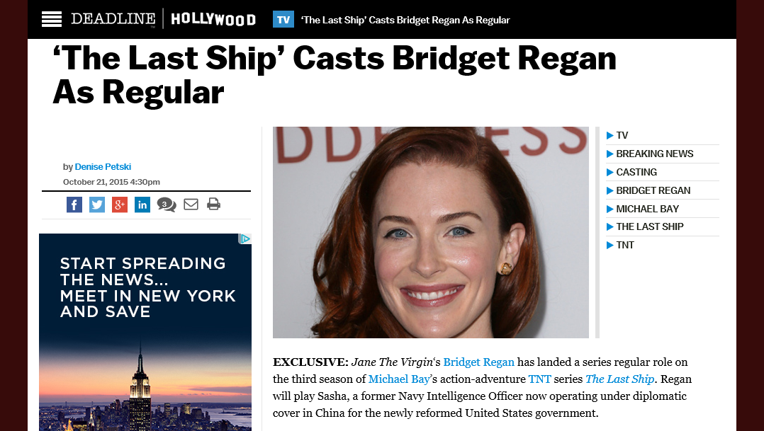 Pretty soon @BridgetRegan will be on every channel in my home and that's ok with me. Congrats, Bridget! Fuego!!! https://t.co/a38btCvh1O