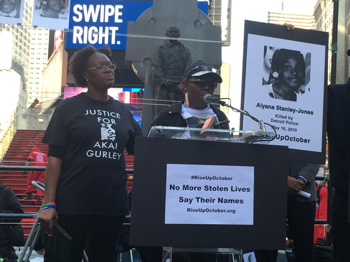 #SayTheirNames #RiseUpOctober Times Square https://t.co/09uo3Lifya